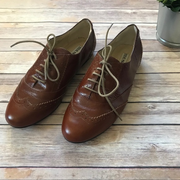 Steve Madden Shoes Brown Leather Oxfords Womens 11 Poshmark